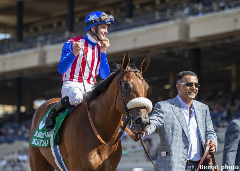 Bellafina Makes It Look Easy In Chandelier Horse Racing