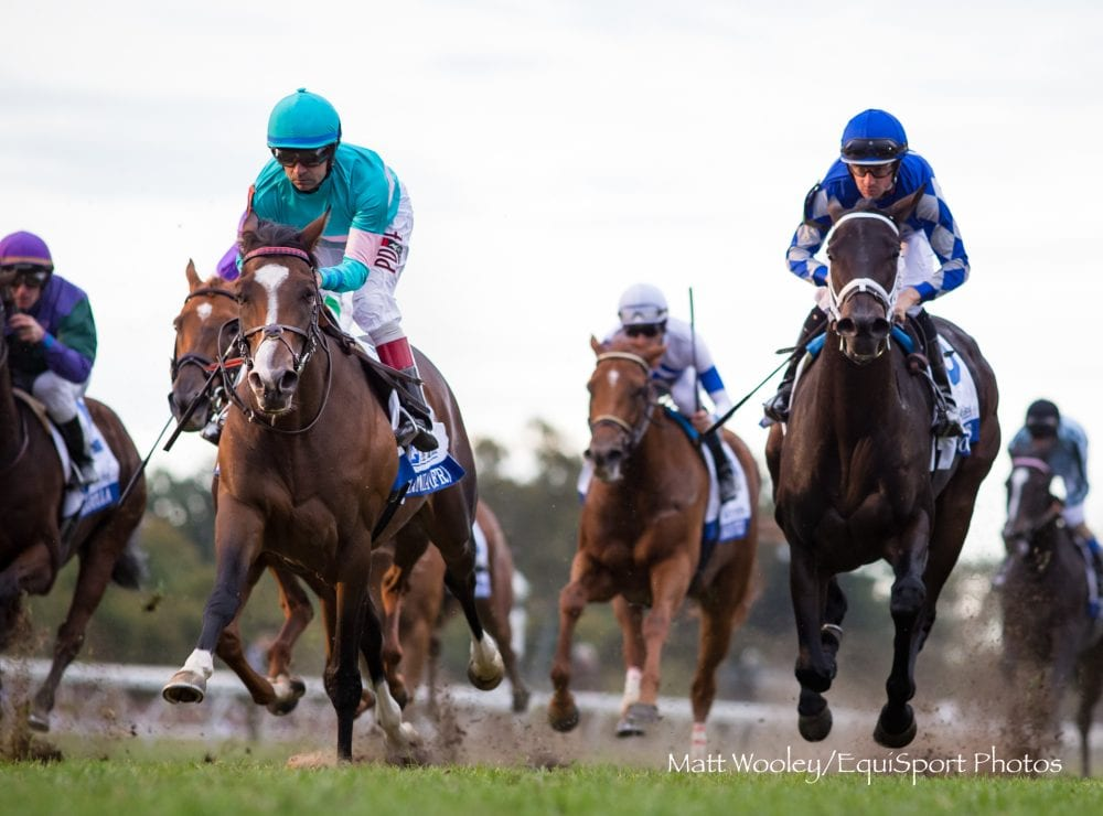 Colonia Gets First Graded Win In Wild Running Of Pin Oak Valley View