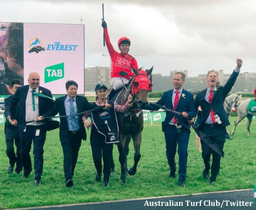 Redzel wins world's richest turf race The Everest