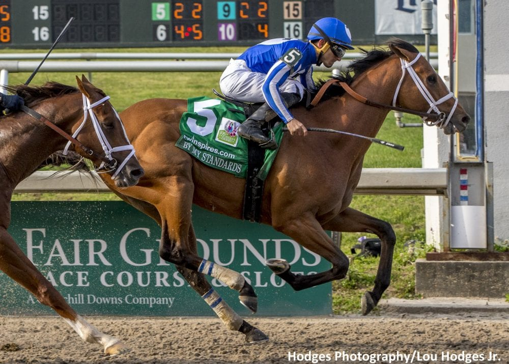 By My Standards Upsets Spinoff At 22 1 In Louisiana Derby