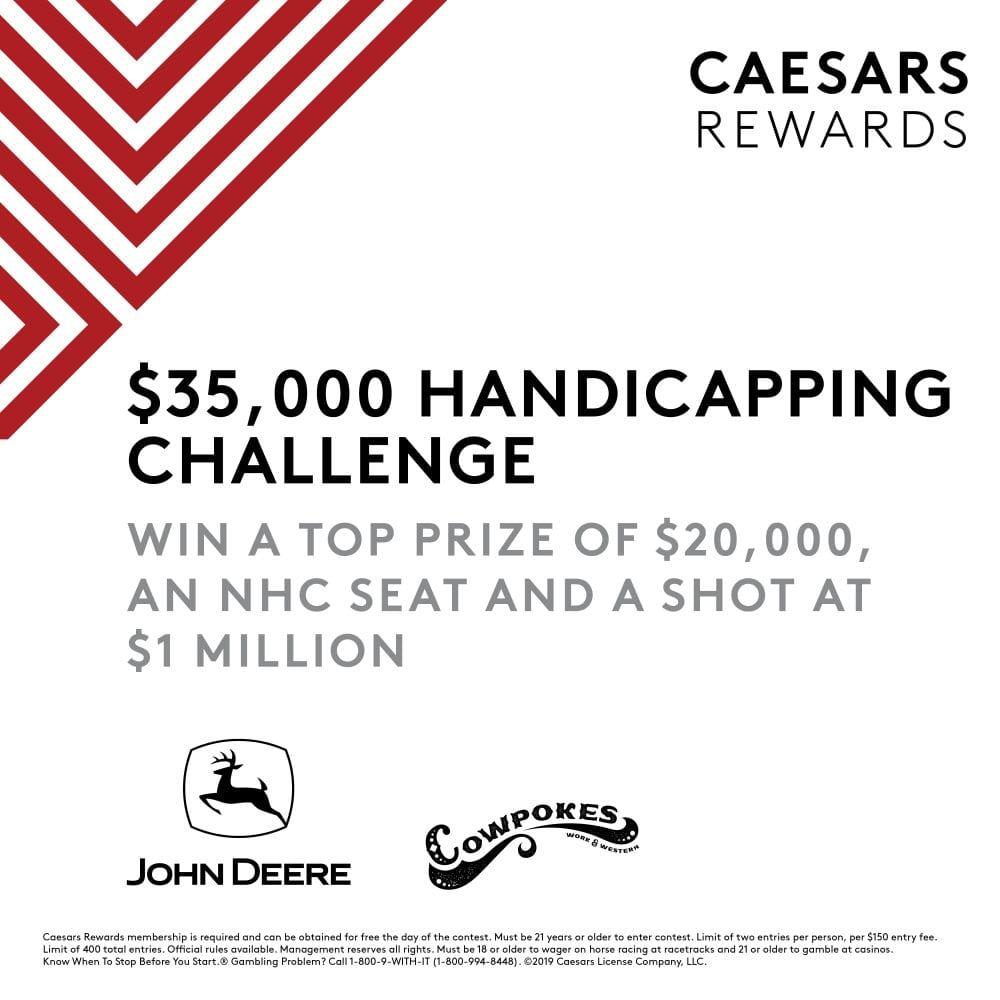 Caesars Rewards Handicapping Challenge Offers $20,000 Top