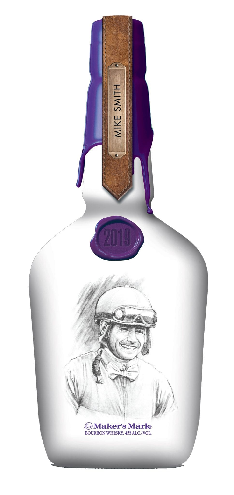 Breeders Cup Maker S Mark Unveil Mike Smith Bottle As