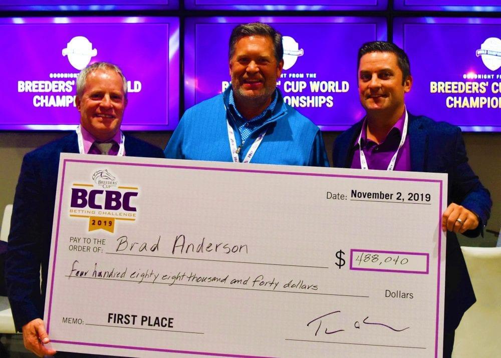 Brad Anderson Captures Breeders Cup Betting Challenge